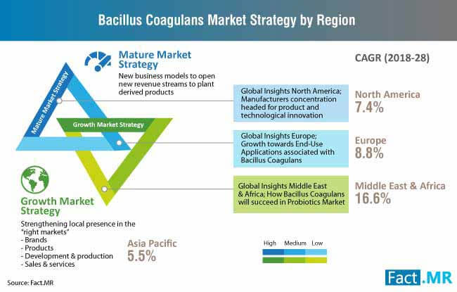 bacillus coagulans market strategy, by region