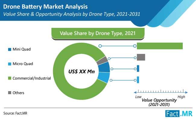 drone battery market type