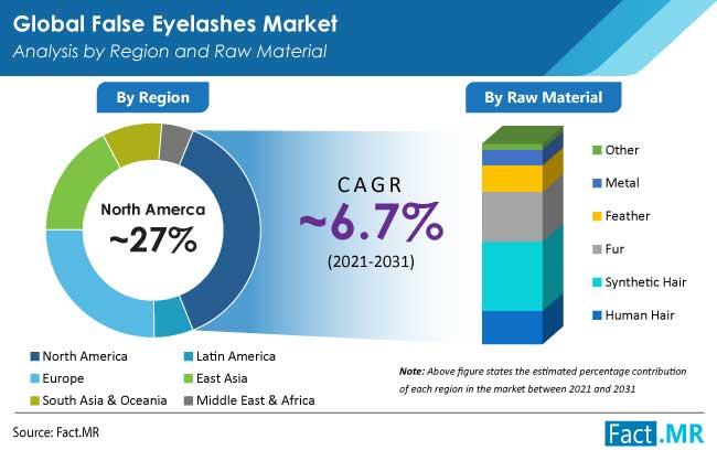 false eyelashes market region