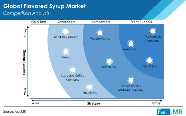 flavored syrup market competition by FactMR