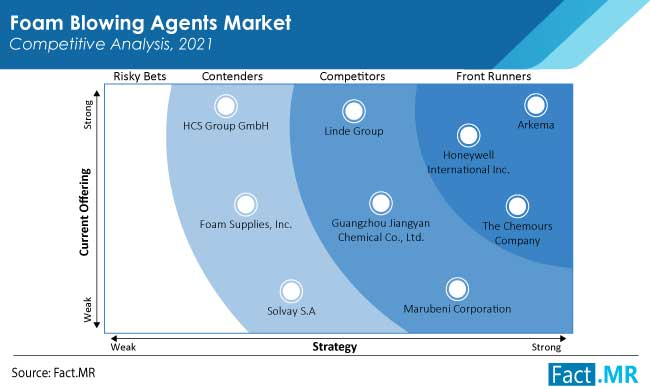 foam blowing agents market competition