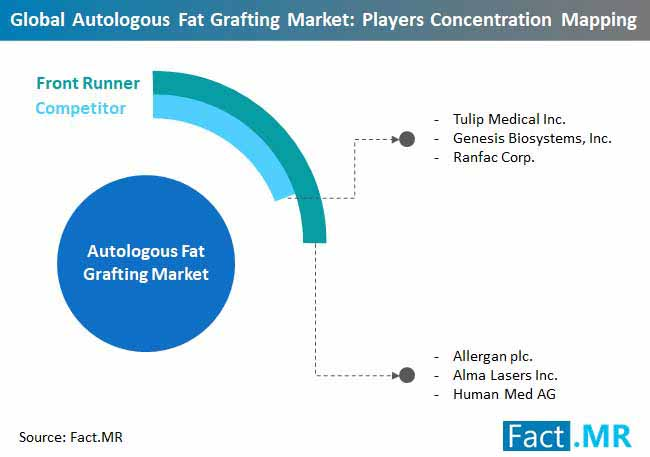 global autologous fat grafting market players concentration mapping