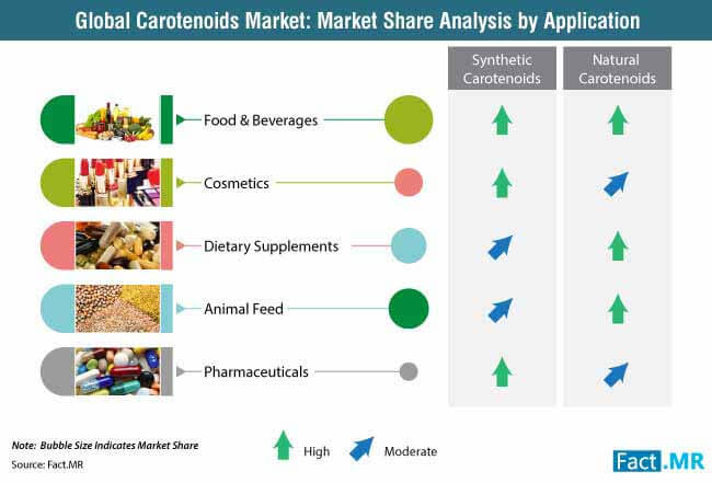 global carotenoids market market share analysis by application