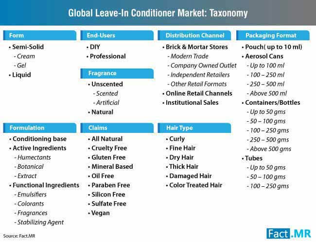 global leave in conditioner market taxonomy