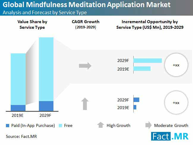 global mindfulness meditation application market analysis and forecast type