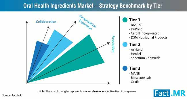 global oral health ingredients market strategy benchmark by tier
