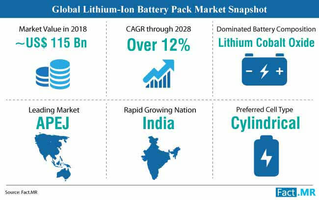 lithiumion battery pack market snapshot