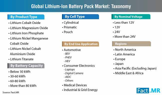 lithiumion battery pack market taxonomy