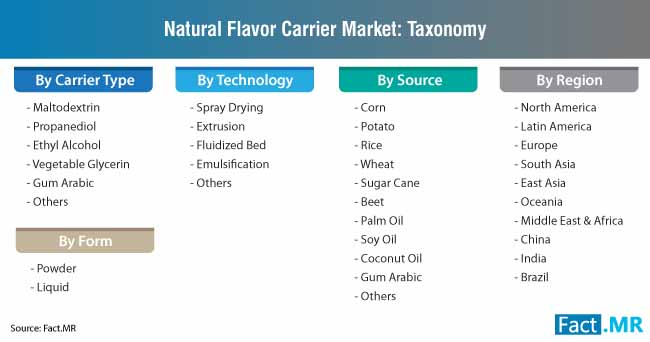 natural flavor carrier market taxonomy