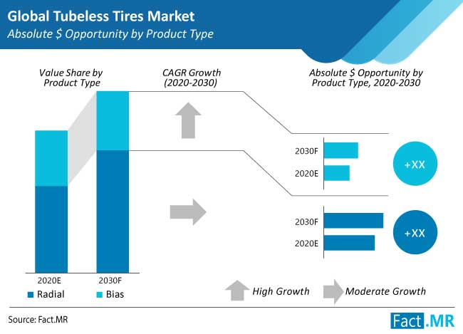 tubeless tires market product type